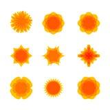 Las flores y las formas abstractas fijaron para su diseño Imágenes de archivo libres de regalías