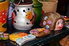 Las formas de la arcilla pintaron 5 Imagen de archivo libre de regalías