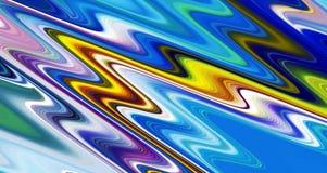 Las formas de ondas vivas azules lisas abstractas, ponen en contraste el fondo abstracto fotografía de archivo libre de regalías