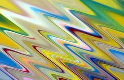 Las formas de ondas vivas en colores pastel lisas abstractas, ponen en contraste el fondo abstracto imagen de archivo