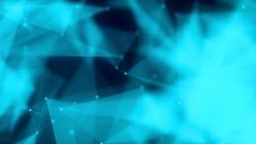 Las formas, los puntos y las líneas connectied con brillo en vanguardia borrosa animación Composición de enfoque los hapes son ilustración del vector