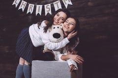 Las fotos del Año Nuevo de la familia Imagen de archivo libre de regalías