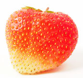 Las fresas maduras rojas se cierran para arriba Imagenes de archivo