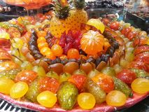 Las frutas de la compota Imagen de archivo