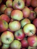 las frutas de las manzanas de la fruta fresca del color flavovirent son útiles a la salud mucha vitamina, jugo, fotografía de archivo libre de regalías
