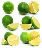Las frutas verdes frescas de la cal aislaron el alimento sano Foto de archivo