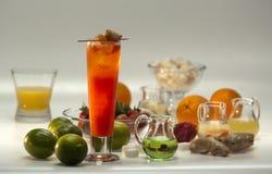 Ingredientes para los cócteles sin alcohol fotos de archivo libres de regalías