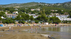 Las Fuentes beach in Alcossebre, Spain Royalty Free Stock Photography