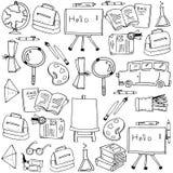Las fuentes de escuela equipan garabatos Fotos de archivo libres de regalías
