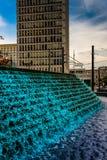 Las fuentes y el edificio en la aspérula parquean en Atlanta céntrica, Geo Fotografía de archivo libre de regalías
