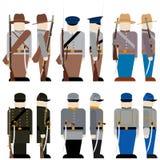 Las fuerzas armadas de arma de la confederación Fotografía de archivo