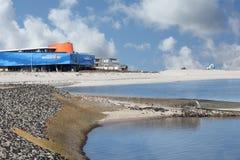 Las fuerzas de la exposición de la naturaleza en lista en la isla de Sylt Foto de archivo libre de regalías