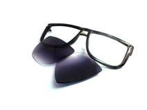 Las gafas de sol viejas negras son decisivas Imagenes de archivo