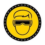 Las gafas del desgaste del símbolo firman en el fondo blanco, ejemplo del vector ilustración del vector
