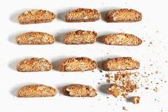 Las galletas de Italia hicieron con las nueces, cantuccini de Biscotti Foto de archivo