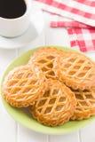 Las galletas de la empanada de manzana Foto de archivo