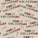 Las galletas de la Feliz Navidad fijaron con los caramelos en el fondo marrón, ejemplo del vector, modelo inconsútil Imagen de archivo