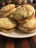 Las galletas de la torta del confeti Foto de archivo libre de regalías
