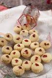 Las galletas de Shrewsbury, galletas de Maida, untan con mantequilla las galletas inglesas Fotografía de archivo