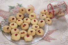 Las galletas de Shrewsbury, galletas de Maida, untan con mantequilla las galletas inglesas Foto de archivo