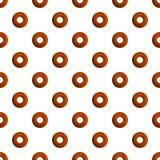 Las galletas del buñuelo modelan vector inconsútil stock de ilustración