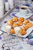 Las galletas del coco con malibu beben vida inmóvil Fotografía de archivo libre de regalías