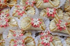 Las galletas hechas en casa festivas marroquíes se cierran para arriba fotos de archivo