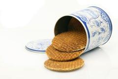 Las galletas holandesas en coloreadas pueden imagen de archivo libre de regalías