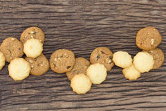 Las galletas son pedazos Fotos de archivo libres de regalías