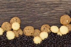 Las galletas son pedazos Foto de archivo