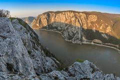 Las gargantas de Danubio, Rumania Fotografía de archivo libre de regalías
