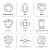 Las gemas populares polivinílicas bajas del esquema del modelo cortan infographics Foto de archivo libre de regalías