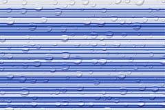 Las gotas de la línea ligera y del agua Fotografía de archivo libre de regalías