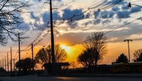 Las grandes nubes callan la tarde Foto de archivo