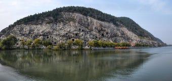 Las grutas de Longmen en la provincia de Henan en China Foto de archivo