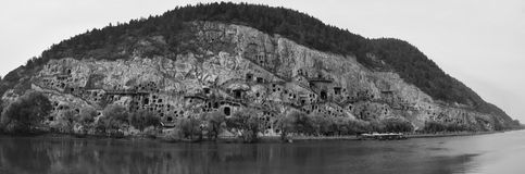 Las grutas de Longmen en la provincia de Henan en China Imágenes de archivo libres de regalías