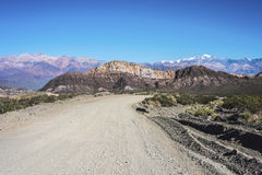 Las Heras的部门在Mendoza,阿根廷 免版税库存照片