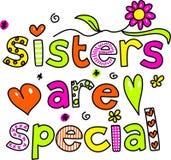 Las hermanas son especiales stock de ilustración