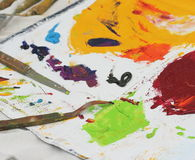 Las herramientas del pintor Fotografía de archivo