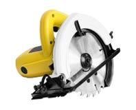 Las herramientas eléctricas, circular vieron en el fondo blanco Fotografía de archivo libre de regalías