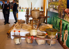 Las herramientas en el arroz se agrupan en la expo 2015, Milán Fotos de archivo libres de regalías