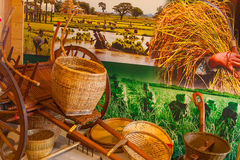 Las herramientas en el arroz se agrupan en la expo 2015, Milán Fotografía de archivo