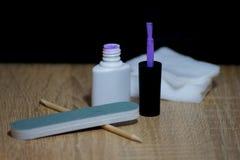 Las herramientas manicure, el arte del clavo, equipo para la manicura Fotos de archivo libres de regalías