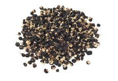 Las hierbas negras chinas tradicionales secaron wolfberry imagen de archivo libre de regalías