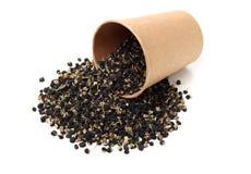 Las hierbas negras chinas tradicionales secaron wolfberry imagenes de archivo