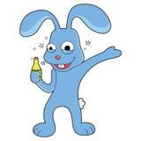 Las historietas del conejo están sintiendo felices ilustración del vector
