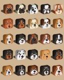 Las historietas isométricas del vector del cubo de la cabeza de perro diseñan stock de ilustración