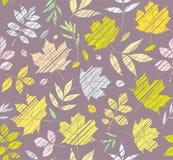 Las hojas de los árboles, fondo inconsútil, gris, color, shading, vector Imagen de archivo