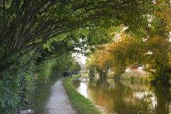 Otoño magnífico del canal de la unión berkhamsted Imagen de archivo libre de regalías