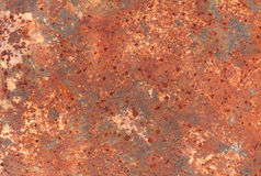 Las hojas del cinc están viejas y oxidadas Moho superficial del hierro Fotos de archivo libres de regalías